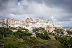 Ostuni Puglia, Italien arkivbilder