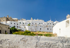 Ostuni, Puglia, white houses Royalty Free Stock Images