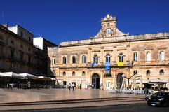 Ostuni town hall Royalty Free Stock Images