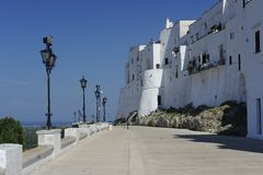 Ostuni, the white city. Ostuni is called the white city. A very suggestive seaside place where to live Stock Photos