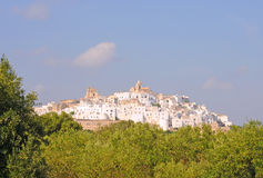 Ostuni, the white city in Italy Stock Images