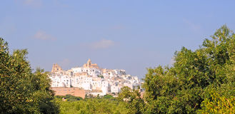 Ostuni, the white city in Italy Stock Image