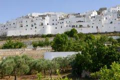 Ostuni the white town of Puglia Stock Photo