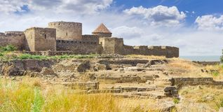 Ostwand der Akkerman-Festung, Ukraine Stockbild
