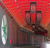 OSU-de Tunnel van het Voetbalstadion stock foto's