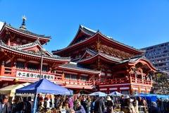 Osu Kannon寺庙在名古屋 免版税图库摄影