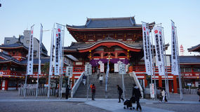 Osu Kanon tempel i Nagoya Arkivbild
