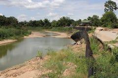 Osunięcie się ziemi i banka erozja Zdjęcie Royalty Free