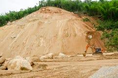 Osunięcie się ziemi w podczas pory deszczowa, Tajlandia Zdjęcie Royalty Free