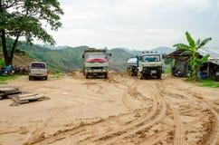 Osunięcie się ziemi w podczas pory deszczowa, Tajlandia Fotografia Royalty Free
