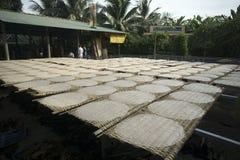 Osuszka ryżowy papier zachód, Mekong delta, Wietnam Obrazy Royalty Free