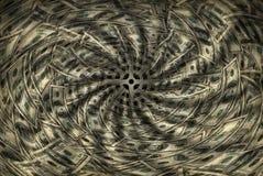 osuszyć pieniądze na dół Fotografia Stock