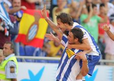 Osvaldo of Espanyol Stock Image