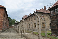 Osvietim Auschwitz concentration camp Royalty Free Stock Photo