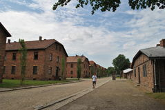 Osvietim Auschwitz concentration camp Royalty Free Stock Photography