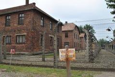 Osvietim Auschwitz koncentracyjny obóz Obraz Royalty Free