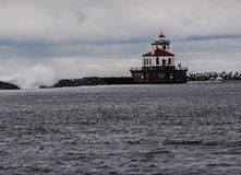 Oswego West Pierhead Lighthouse Royalty Free Stock Photos