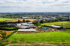 Oswestry (from the hill fort). Royalty Free Stock Image