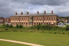 Oswestry järnvägsstation Arkivbild
