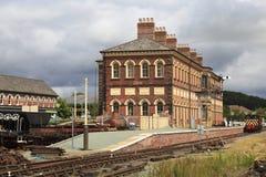 Oswestry järnvägsstation Arkivfoto