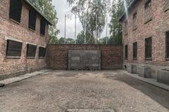 Oswiecim, am 23. August 2017: Alter Durchführungsplatz beim ersten Aus stockfoto