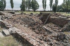Oswiecim, 23 Augustus 2017: Auschwitz Birkenau II Kamp dit stock fotografie