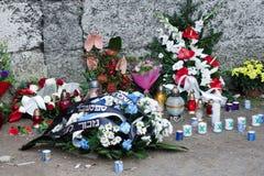 OSWIECIM, POLAND/EUROPE - 18 SEPTEMBRE : Concentration d'Auschwitz photo stock
