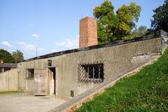 OSWIECIM, POLAND/EUROPE - 18 SEPTEMBRE : Concentration d'Auschwitz image libre de droits