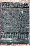 OSWIECIM, POLAND/EUROPE - 18 SEPTEMBRE : Plaque à l'escroquerie d'Auschwitz photographie stock libre de droits