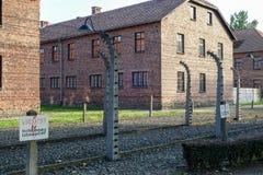 OSWIECIM, POLAND/EUROPE - WRZESIEŃ 18: Auschwitz koncentracja obraz royalty free