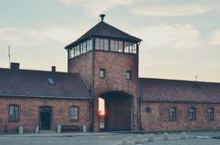 Concentration camp in Oswiecim, Poland. Stock Photos