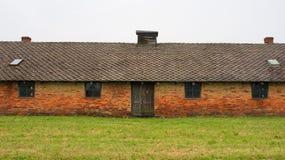 Barracks at Birkenau. Oswiecim, Poland - July 11th 2018. Barracks in the Birkenau Auschwitz II concentration camp in Poland Royalty Free Stock Photography