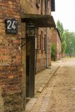 Block 24a. Oswiecim, Poland - July 11th 2018. Building Block 24a in the Auschwitz concentration camp in Poland Stock Photography
