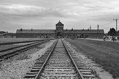 Birkenau Guard Tower Gate royalty free stock photography