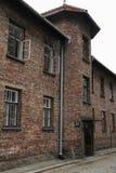 OSWIECIM Polen - Maj 09, 2015: Byggnader i tidigare nazistkoncentration Arkivfoton