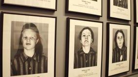 OSWIENCIM, портреты ПОЛЬШИ - 14-ое января 2017 жертв женщины Освенцима Birkenau Немецкая нацистская концентрация и акции видеоматериалы