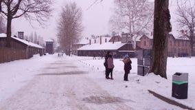 OSWIENCIM, экскурсия ПОЛЬШИ - 14-ое января 2017 к Освенциму Birkenau, бывшей немецкой нацистской концентрация и видеоматериал