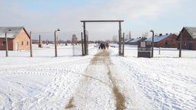 OSWIENCIM, POLEN - JANUARI, 14, van 2017 Rondleiding aan Auschwitz Birkenau, Duitse Naziconcentratie en uitroeiing stock foto