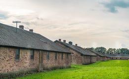 Oswiencim, Polonia - 21 settembre 2019: Campo di concentramento di Birkenau Caserme di morte Storia ebrea del campo di sterminio immagini stock libere da diritti