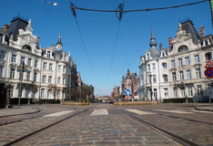 Osylei Street in Antwerp, Belgium Stock Images
