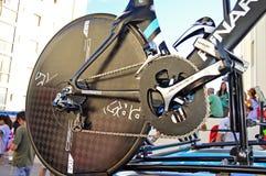Osymetric Chainring en la bici del ensayo del tiempo de Chris Froome Fotos de archivo
