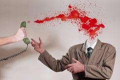 osynlig man för blod royaltyfri foto