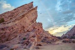 Oszałamiająco geological anomalia Vasquez Kołysa Naturalnego terenu parka, Kalifornia zdjęcie stock