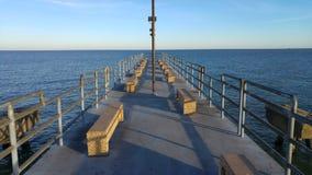 Oszałamiająco Jeziorna Erie i Cleveland plaża Fotografia Royalty Free