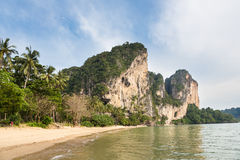 Oszałamiająco krajobraz wokoło Krabi w południowym Tajlandia Obraz Stock