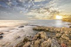 Oszałamiająco krajobraz z panoramicznym widokiem Obraz Stock