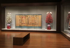 Oszałamiająco makaty i dekorujący drzewa, Cleveland muzeum sztuki, Ohio, 2016 Zdjęcia Royalty Free