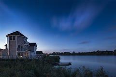 Oszałamiająco nocne niebo astrofotografii krajobrazu wizerunek gwiazdy ove zdjęcie royalty free