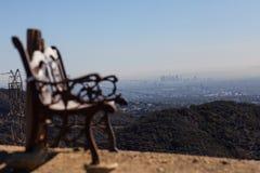 Oszałamiająco panoramiczny widok Zachodni Los Angeles od Kenter śladu podwyżki w Brentwood Przegapiać Snata Monica, Beverly Hills Zdjęcie Royalty Free