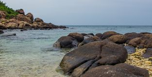 Oszałamiająco seascape w wyspie Obraz Royalty Free